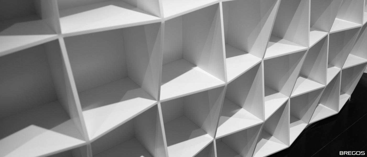 biała biblioteczka solid surface