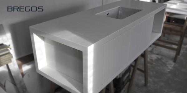 Wilgocioodporna szafka łazienkowa z blatem