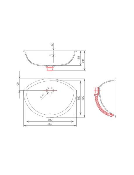 Umywalka łazienkowa solid surface Kolpa Kerrock Silvia 010
