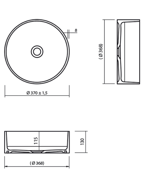 Umywalka łazienkowa solid surface Lg Hi-Macs  CB330C