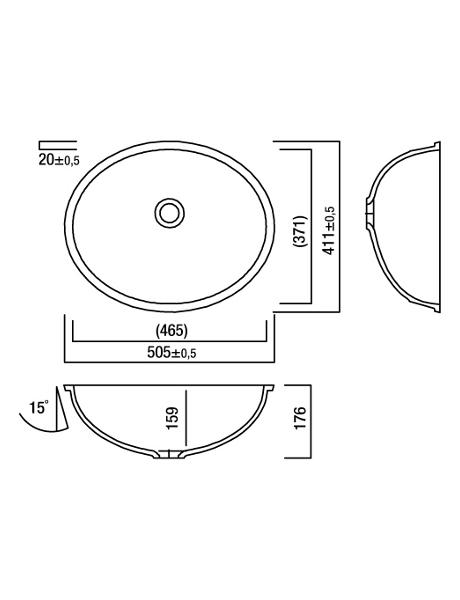 Umywalka łazienkowa solid surface Lg Hi-Macs  CB465