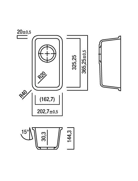 Zlewozmywak kuchenny solid surface Lg Hi-Macs  CS325R