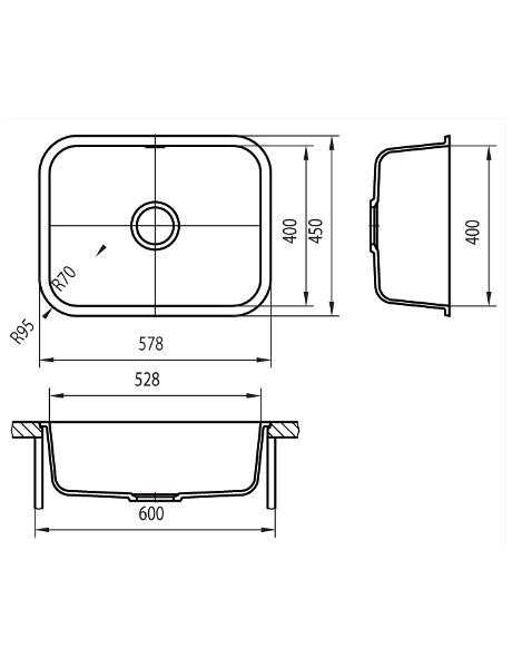 Zlewozmywak kuchenny solid surface Lg Hi-Macs  CS528R