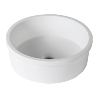 Umywalka łazienkowa solid surface Porcelanosa Krion® 3-way B210 D40 E