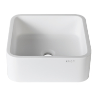 Umywalka łazienkowa solid surface Porcelanosa Krion® 3-way B603 40X40 ON TOP