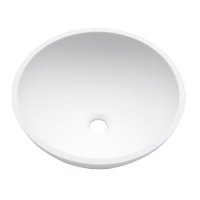Umywalka łazienkowa solid surface Porcelanosa Krion® Basic BC B209 D37 E