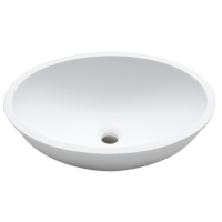 Umywalka łazienkowa solid surface Porcelanosa Krion® Basic BC B413 46X37 E