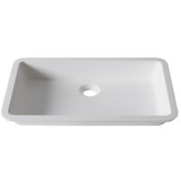 Umywalka łazienkowa solid surface Porcelanosa Krion® Basic BC D801 48X28 E